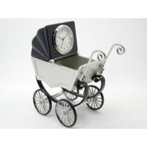 Miniatur-Uhr Kinderwagen