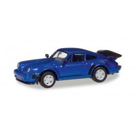 Herpa 030601-002 Porsche 911 Turbo - blaumetallic