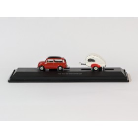 Schuco 452610600  Fiat 500 mit Wohnanhänger