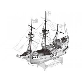 Mini-Metallbausatz Golden Hind Segelschiff